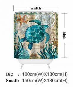 under sea turtles shower curtain