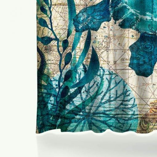 under sea shower curtain