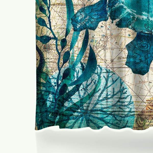Under the sea turtle shower curtain | The Yoga Mandala Store