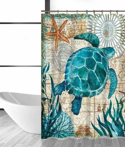 under-the-sea-turtle-shower-curtain
