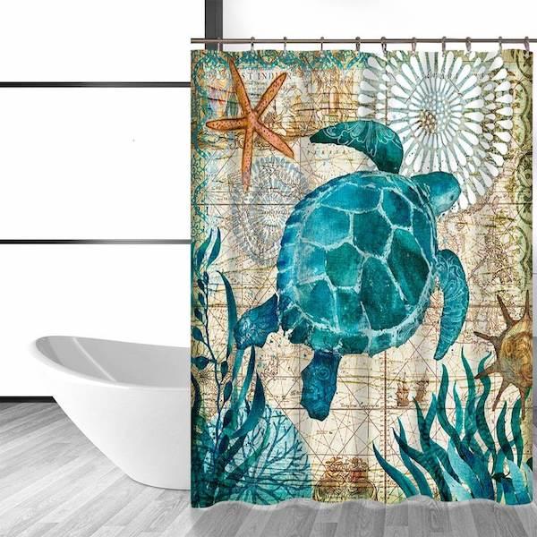 Under Sea Turtle Shower Curtain