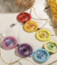 7 chakra dream catcher wall hanging