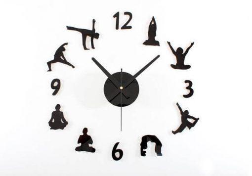 creative diy figures yoga wall clock