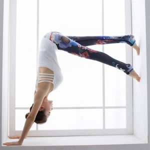 floral-high-waisted-compression-yoga-leggings