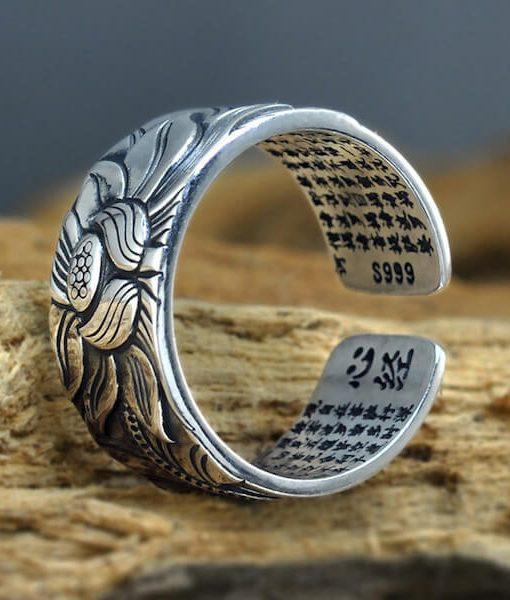 lotus-silver-ring