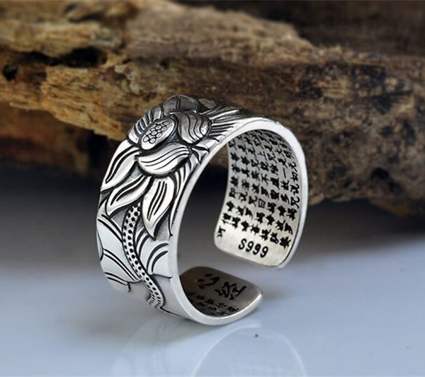 lotus-silver-ring-pure-silver