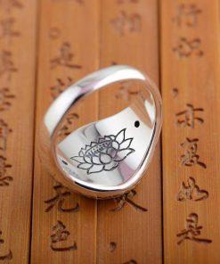 silver-buddhist-lotus-ring