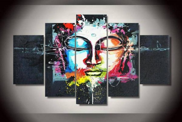 ascension buddha canvas painting