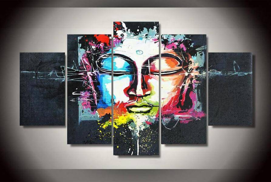 abstract ascension buddha canvas painting