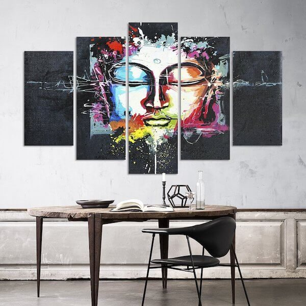 buddha-ascension-5-piece-canvas-painting