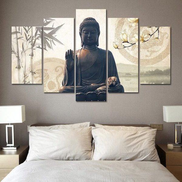 buddha-bamboo-5-piece-canvas-painting-bedroom
