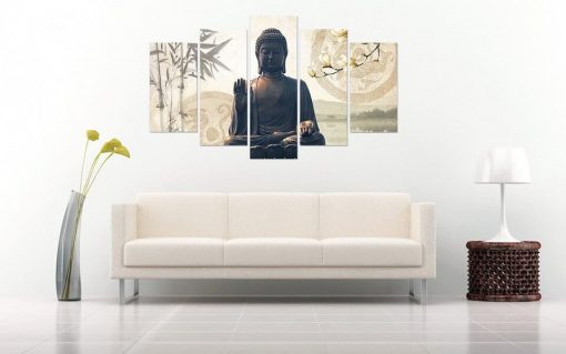 Zen canvas painting for living room