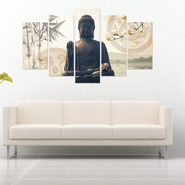 buddha-bamboo-5-piece-canvas-painting-couch