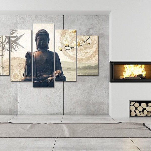 buddha-bamboo-5-piece-canvas-painting-home-decor