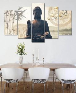 buddha-bamboo-5-piece-canvas-painting-living-room