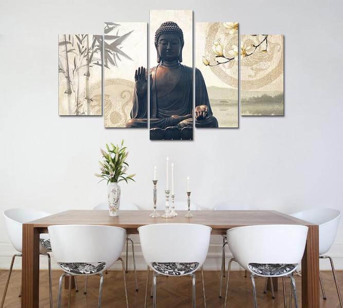 Bamboo Buddha Canvas Painting
