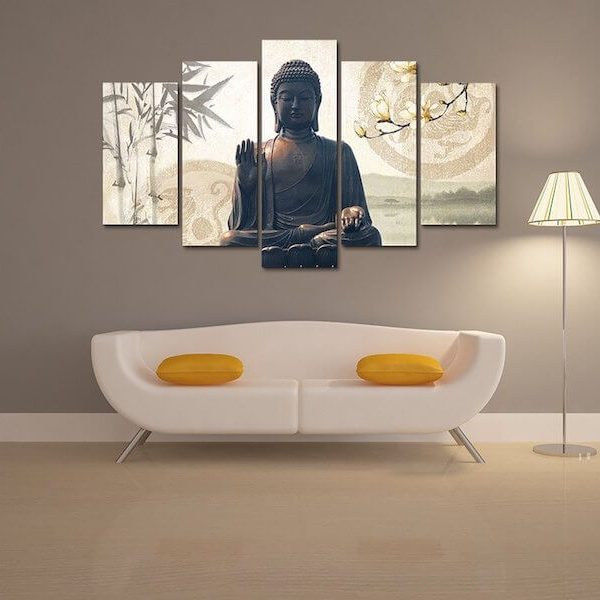 buddha-bamboo-5-piece-canvas-painting-wall