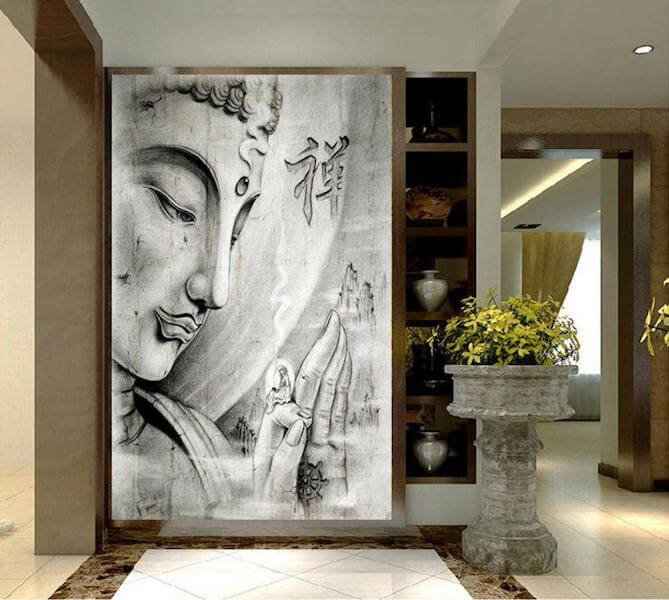 large buddha canvas painting