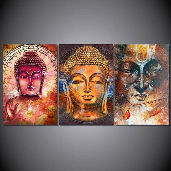 transcension buddha canvas painting
