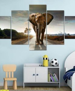 canvas paintings of elephants