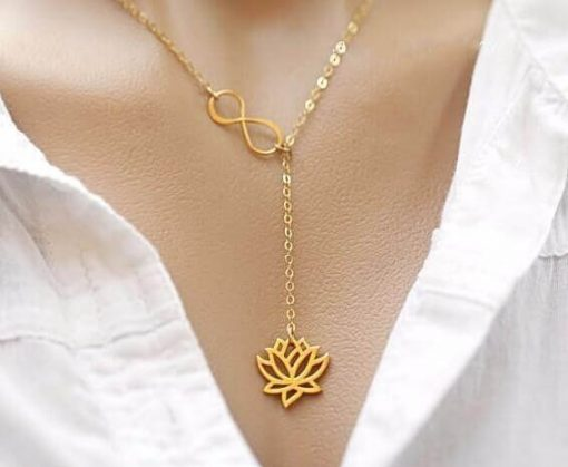 lotus-infinity-necklace-gold