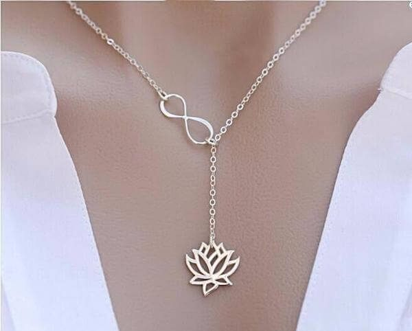 lotus-infinity-necklace-silver