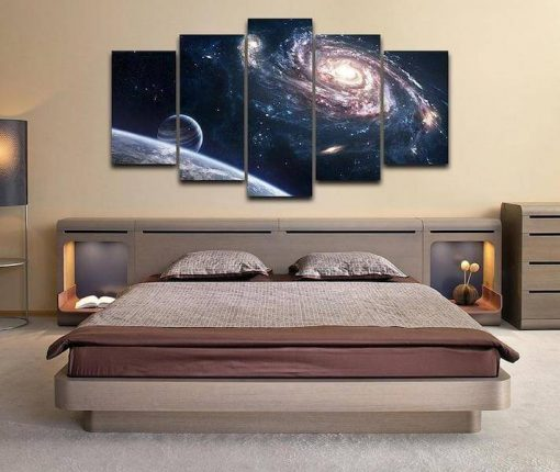 milky way painting canvas