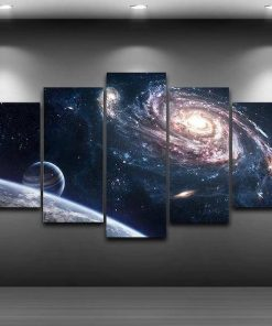 milky way canvas painting