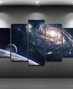 milky-way-planet-space-5-piece-canvas-painting