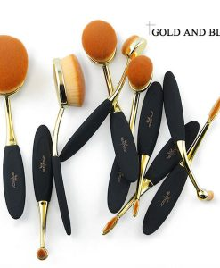gold oval brush set sephora