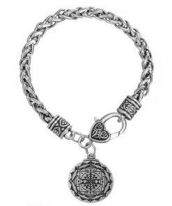 silver sri yantra bracelet