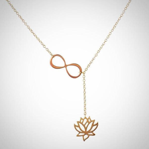 women-lotus-infinity-necklace-gold