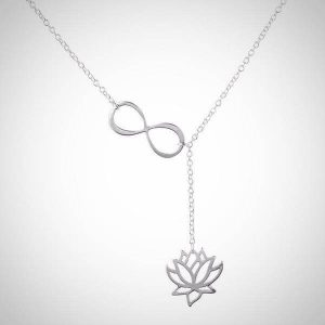 women-lotus-infinity-necklace-silver