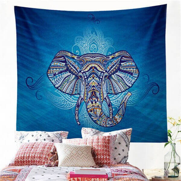 Blue Elephant Wall Hanging
