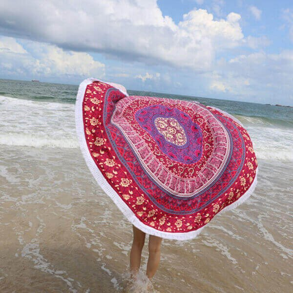 bohemian-plum-bow-medallion-tapestry-beach-towel-tassels