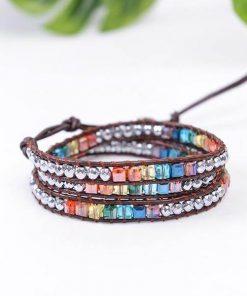 Leather Harmonizing Chakra Bracelet