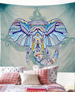 blue mandala-elephant-wall-hanging