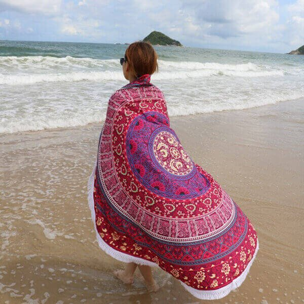 Plum Bow Beach Towel