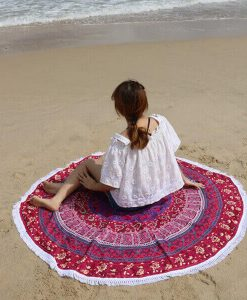 round-plum-bow-medallion-beach-towel-tassels