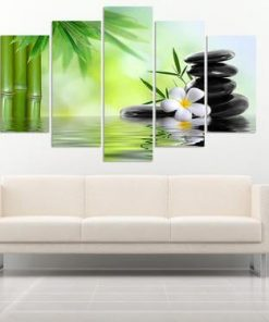 bamboo canvas painting