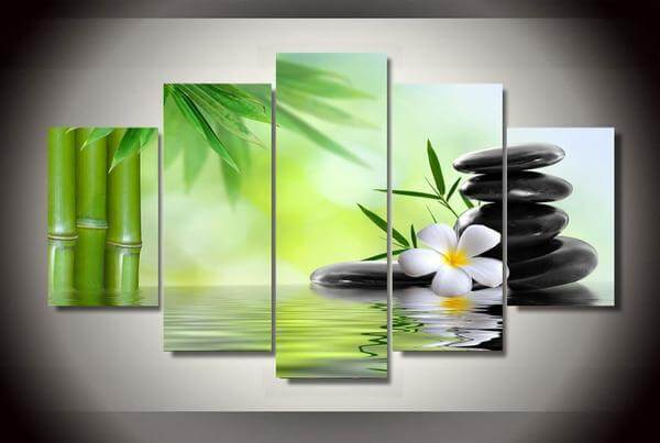 zen bamboo canvas wall art