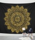 black-gold-lotus-mandala-tapestry
