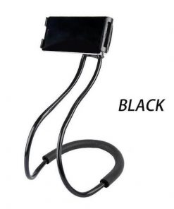 black lazy neck phone holder