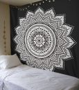 black-white-lotus-mandala-tapestry