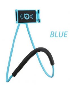 blue lazy neck phone holder
