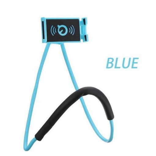blue lazy neck phone holder