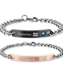 aquarius Bracelets - Zodiac Sign Matching Couple Bracelets [12 Variants]