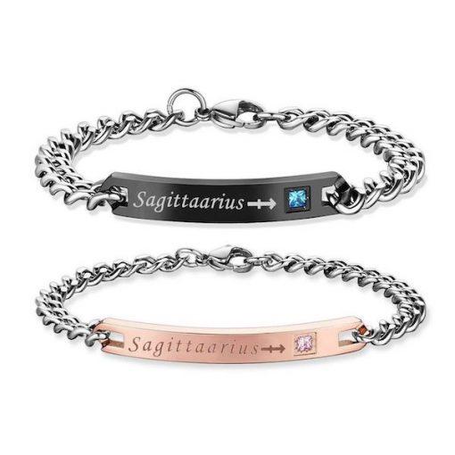 sagittarius Bracelets - Zodiac Sign Matching Couple touch Bracelets [12 Variants]