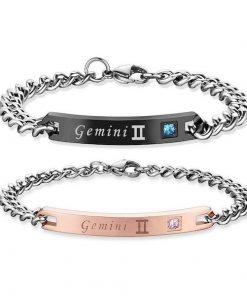 gemini Bracelets - Zodiac Sign Matching Couple Bracelets [12 Variants]