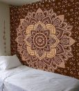 gold-brown-lotus-mandala-tapestry